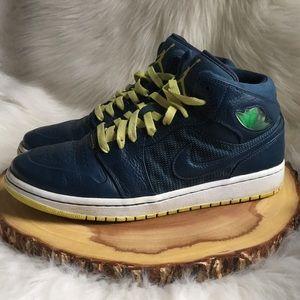 Nike Air Jordan high top leather sneakers